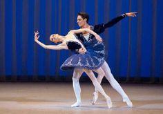 Oksana Skorik and Timur Askerov at the XII International Ballet Competition in Moscow. Skorik was a silver medalist, and Askerov gold. Ballet Tutu, Ballet Skirt, Australian Ballet, Petersburg Russia, Ballet Costumes, Moscow, Dance, Skirts, Competition