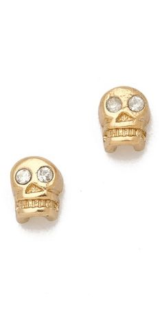 gold skull studs / bing bang