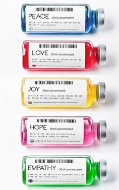 Emotional Medicine: Love, Hope, Joy, and Peace Drugs. Contemporary Art by Valerio Loi. Foto Top, Conceptual Art, Oeuvre D'art, Motto, Packaging, Positivity, Peace, Graphic Design, Writing
