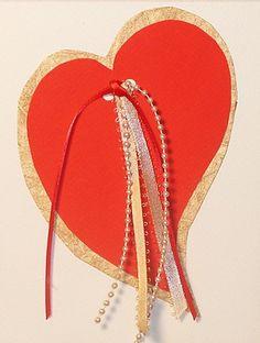 Original Handmade Love Heart Art Card by JacyDesign on Etsy