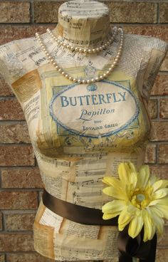 Butterfly dress form