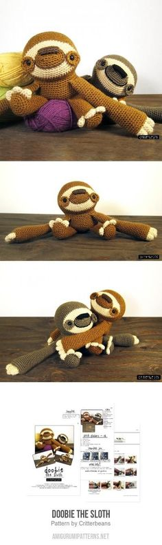 Doobie The Sloth Amigurumi Pattern