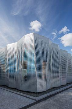 Farbe im Gewerbepark - Bürogebäude in Lund erweitert