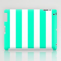 Mint White Stripes iPad Case by M Studio - $60.00
