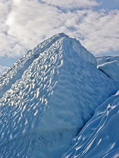 A view on the Matanuska Glacier, milepost 102, Glenn Highway, Alaska