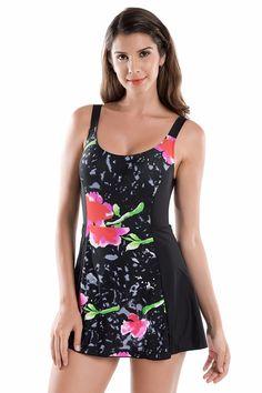 Delimira Women's Floral Print One Piece Swimwear Swimsuit Plus Size Women Beachwear with Skirt♦️ SMS - F A S H I O N  http://www.sms.hr/products/delimira-womens-floral-print-one-piece-swimwear-swimsuit-plus-size-women-beachwear-with-skirt/ US $16.71