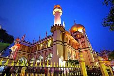 Singapore's largest mosque, Sultan Masjid.