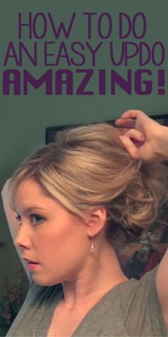 Easy updos Archives - Page 2 of 10 - Beauty DIY Journal Easy Updos For Medium Hair, Medium Hair Styles, Short Hair Styles, Updos For Medium Length Hair Tutorial, Amanda Jones, Hairstyles With Bangs, Bangs Updo, Easy Mom Hairstyles, Easy Formal Hairstyles