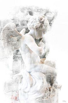 Cherub Photograph - Shhhhh by Evie Carrier Artwork Prints, Fine Art Prints, Angel Statues, Paris Art, Paris Photography, Angels In Heaven, Angel Art, Lion Sculpture, Angel Sculpture