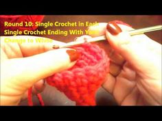 With the holiday season around the corner, learn how to crochet a Barbie doll Santa Hat for your child's dolls. This is a cute pattern that uses single crochet.