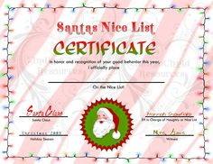 Share the love ms office templates and printables for valentines search results for santa nice list certificate template 2017 yelopaper Images