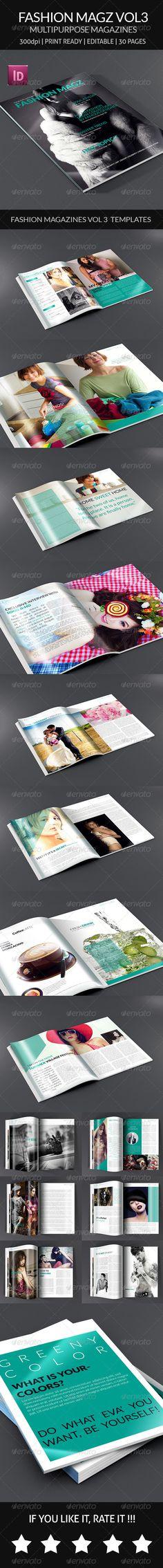 Fashion Magz Vol3 - Multipurpose Magazine Template - Magazines Print Templates Download here : https://graphicriver.net/item/fashion-magz-vol3-multipurpose-magazine-template/8160745?s_rank=99&ref=Al-fatih