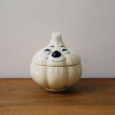 Vintage ceramic garlic holder