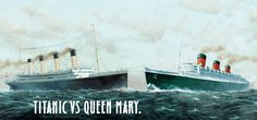 Queen Mary vs Titanic Statistics | Queen Mary Hotel | Comparison of the Queen Mary Long Beach versus the Titanic