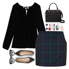 """Untitled #272"" by oliviavt ❤ liked on Polyvore featuring Max&Co., Topshop, J.Crew, Clinique, Kendra Scott, Olivia Burton, Stila, Kate Spade, Allurez and Essie"