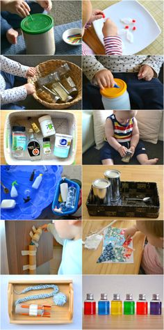 Montessori with recycled materials at How we Montessori