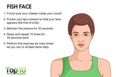 fish face exercise for reducing face fat naturally Losing Belly Fat Diet, Lose Tummy Fat, Lose Fat, Fat Belly, Face Exercises Cheeks, Facial Exercises, How To Get Jawline, Cheek Fat, Reduce Face Fat