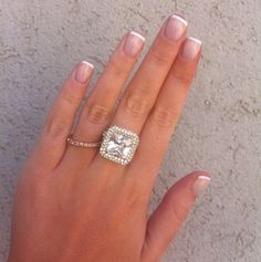 Short french -Wedding manicure - #nails