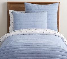 Find boys' comforter sets and quilts at Pottery Barn Kids. Create a bed your boy will love whether it be a fun print or his favorite characters. Aqua Bedding, Quilt Bedding, Nursery Bedding, Boys Bedroom Paint, Unpainted Furniture, Bedding Basics, Baby Furniture, Furniture Layout, Fashion Room