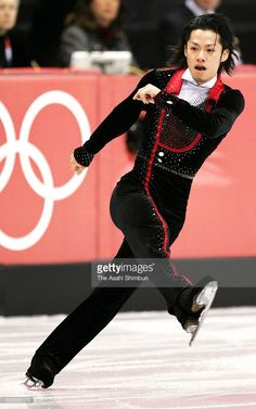 Daisuke Takahashi of Japan competes in the Figure Skating Men's Short Program during day four of the Torino Winter Olympics at Palavela on February 14, 2006 in Turin, Italy.