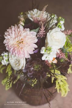 Bridal Bouquet by local florist Wild Apples of Baraboo, Wisconsin  2014