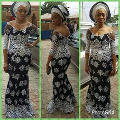 Check Out This Creative Aso Ebi Design - DeZango Fashion Zone