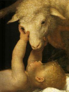 """BUON NATALE!!! Nell'immagine: Lorenzo Lotto, """"Adorazione dei pastori"""", Brescia, Pinacoteca Tosio Martinengo, dettaglio."""