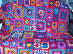 Dolly Vintage Style Granny Square Blanket Crochet by Thesunroomuk, £4.50