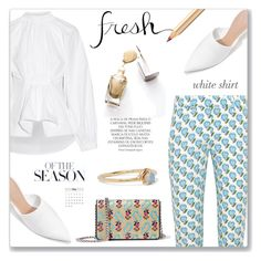 """white shirt"" by cilita-d ❤ liked on Polyvore featuring Dolce&Gabbana, E L L E R Y, Prada, Miu Miu, CHARLES & KEITH, Magdalena and WWAKE"