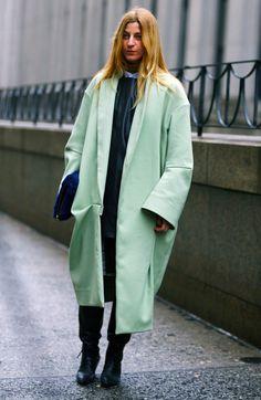 Ada Kokosar, Mint Green Acne Coat