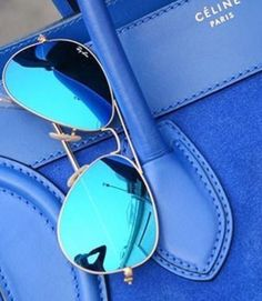 Blue #RayBan Aviator Flash - one in every color please ♥