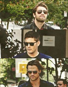 Supernatural hunks in sunglasses
