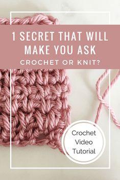 knit look crochet stitch video tutorial, crochet stitch that looks like knit, crochet video
