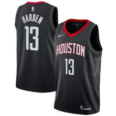 53ce8fdc7ab Men s Houston Rockets James Harden Nike Red Swingman Jersey - Icon Edition