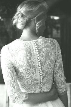Rosa kjole med blonder fra 50 tallet