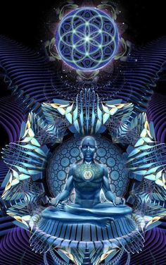"""Persistence guarantees that results are inevitable."" ― Paramahansa Yogananda ॐ May all sentient beings be released from suffering ॐ Chakras, Can I Kiss You, Psy Art, Visionary Art, Sacred Art, Psychedelic Art, Sacred Geometry, Guided Meditation, Occult"