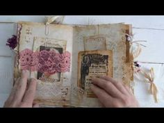 Junk journal. Private swap with Sue Olson. - YouTube