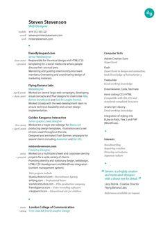 graphics resume design