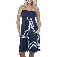 Dallas Cowboys Tube  Dress - Cute! But a tad more than I would spend on it. Recreate similar with t-shirts? Hmmm...