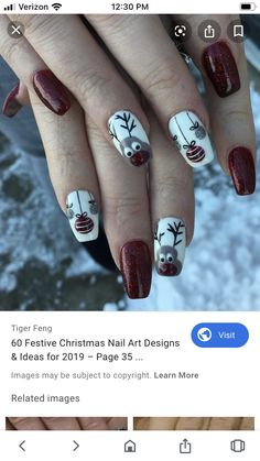 Christmas is coming, and the atmosphere of the festival is getting stronger and stronger. Decoration at home should be in keeping with the atmosphere of Christmas. Our nails should also be beautifully designed. We should prepare Christmas decorations Cute Gel Nails, Us Nails, Pretty Nails, Christmas Gel Nails, Christmas Nail Art Designs, Christmas Decorations, Nails For Kids, Toe Nail Designs, Winter Nails
