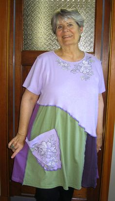 Plus Size Tunic / Dress lavender green by maisestudio on Etsy, $74.00