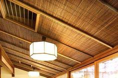 Bamboo or willow rolled fencing can make a wonderful wall or ceiling covering material.