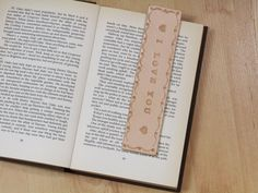 I Love You Bookmark Deluxe Leather Bookmark  by TinasLeatherCrafts. Repin To Remember.