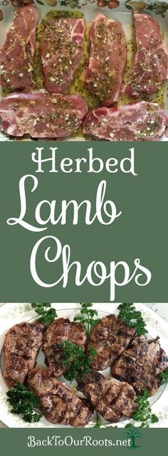 Succulent Herbed Lamb Chops From the Grill Lamb Chop Recipes, Meat Recipes, Whole Food Recipes, Dinner Recipes, Cooking Recipes, Healthy Recipes, Dinner Ideas, Family Recipes, Meal Ideas