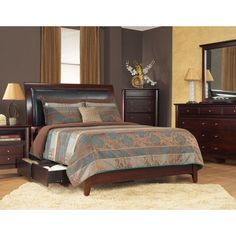 Padded Synthetic Leather Storage Bed in Coco | Overstock.com Shopping - The Best Deals on Beds