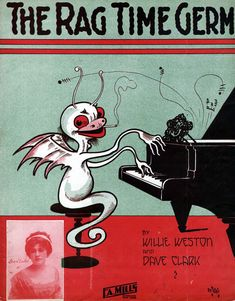"""""""The Rag Time Germ""""? sheet music cover, 1911 - ??"""