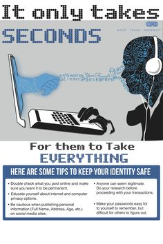 Save your security ONline Cyber Security Awareness Month, Learn Hacking, Ema Watson, Cyber Safety, 32 Bit, Identity Theft, Life Savers, Safety Tips, Slogan