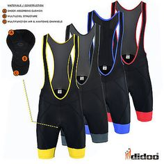 New men's road #cycling bib shorts #padded #tights bicycle racing performance wea, View more on the LINK: http://www.zeppy.io/product/gb/2/222105158757/