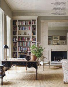 Depacho: distribución, alfombra, mesa