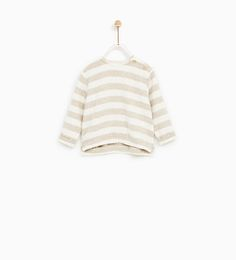 SPECIAL QUALITY STRIPED PLUSH JERSEY T-SHIRT-T-SHIRTS-BABY GIRL | 3 months - 4 years-KIDS | ZARA United States